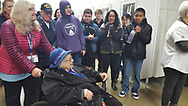94 year old Norma Merrill visits the Womens Memorial for the first time on October 27, 2018 with Honor Flight Maine.