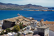 Calvi, Corsica in late 1950s Calvi, Corsica, France  rooftops from citadel