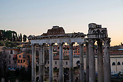 Image from cultural Rome as the sun is setting on a December afternoon.
