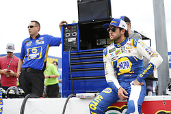 April 6, 2018 - Ft. Worth, Texas, United States of America - April 06, 2018 - Ft. Worth, Texas, USA: Chase Elliott (9) waits to qualify for the O'Reilly Auto Parts 500 at Texas Motor Speedway in Ft. Worth, Texas. (Credit Image: © Stephen A. Arce Asp Inc/ASP via ZUMA Wire)
