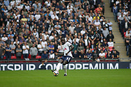 Davison Sanchez of Tottenham Hotspur in action. <br /> Premier league match, Tottenham Hotspur v AFC Bournemouth at Wembley Stadium in London on Saturday 14th October 2017.<br /> pic by Kieran Clarke, Andrew Orchard sports photography.
