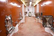 Domaine Mas Bruguiere. Pic St Loup. Languedoc. Concrete fermentation and storage vats. France. Europe.