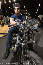 A Leecoln Hotrods custom Harley-Davidson custom Shovelhead after the Custom and Tuning Show, the custom bike show portion of the big Motor Spring bike show in Moscow, Russia. Sunday April 23, 2017. Photography ©2017 Michael Lichter.