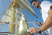 Cleaning instruments aboard Royal Clipper.
