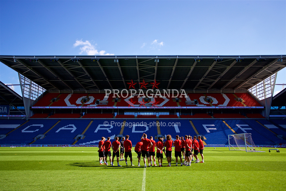 CARDIFF, WALES - Wednesday, September 5, 2018: Wales players during a training session at the Cardiff City Stadium ahead of the UEFA Nations League Group Stage League B Group 4 match between Wales and Republic of Ireland. (Pic by David Rawcliffe/Propaganda)
