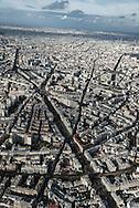 Paris. Aerial view from an Helicopter/ Paris vue aerienne depuis un Hélicoptère