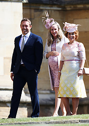 Guests arrives at the wedding of Prince Harry to Ms Meghan Markle at St George's Chapel, Windsor Castle. 19 May 2018 Pictured: Jonny Wilkinson and Shelley Wilkinson. Photo credit: Chris Jackson/Getty Image / MEGA TheMegaAgency.com +1 888 505 6342