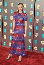 Olga Kurylenko attends the  EE British Academy Film Awards (BAFTA) Red Carpet Arrivals at The Royal Albert Hall in London, 10 February 2019.<br /><br />10 February 2019.<br /><br />Please byline: Vantagenews.com