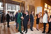 OSWALD BOATENG; YVES CARCELLE, Louis Vuitton openingof New Bond Street Maison. London. 25 May 2010. -DO NOT ARCHIVE-© Copyright Photograph by Dafydd Jones. 248 Clapham Rd. London SW9 0PZ. Tel 0207 820 0771. www.dafjones.com.