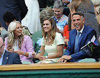 Tennis - 2019 Wimbledon Championships - Week Two, Tuesday (Day Eight)<br /> <br /> Women's Singles, Quarter-Final: Alison Riske (USA) vs. Serena Williams (USA)<br /> <br /> England Women's Manager, Phil Neville in the Royal Box with his players, on Centre Court.<br /> <br /> COLORSPORT/ANDREW COWIE