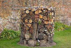 Massive insect hotel at West Dean