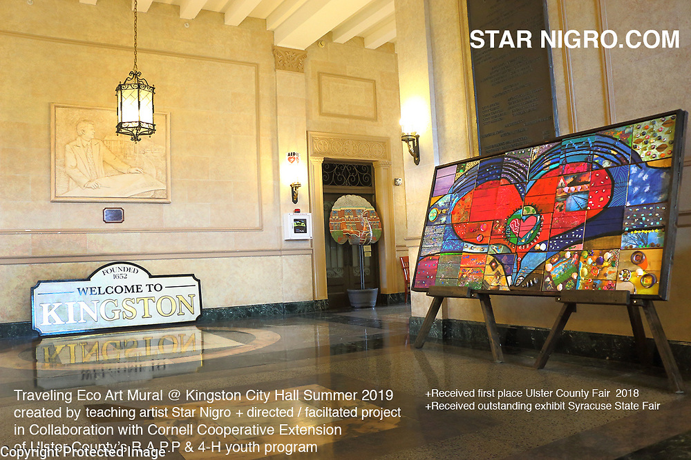 Traveling Eco Mural @ Exhibiting Summer 2019 Kingston, NY City Hall<br /> <br /> starnigro.com<br /> <br /> © 2021 All artwork is the property of STAR NIGRO.  Reproduction is strictly prohibited.