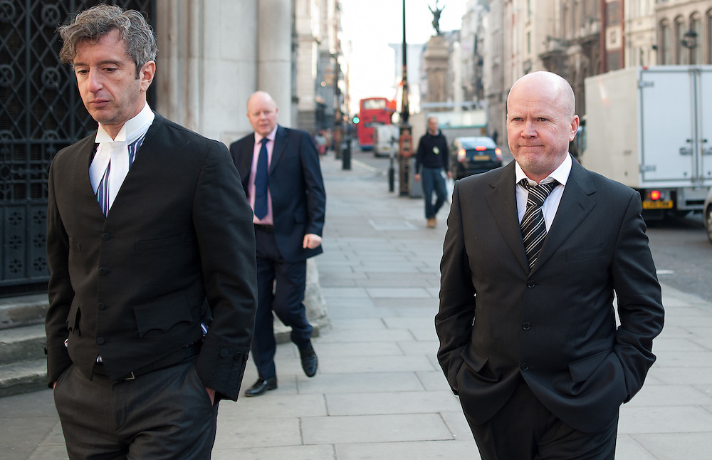 Steve McFadden East Enders star who plays Grant Mitchell ( r )  arriving at The High Court in London on 12th March 2012. ..Steve McFadden, the actor who plays Phil Mitchell in EastEnders, has received an apology and undisclosed damages from the publisher of the now closed News of the World over an article in the paper that falsely suggested that he was guilty of violent conduct towards his former girlfriend..Photo Ki Price.