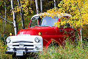 Fall colors and an old truck in western Montana.