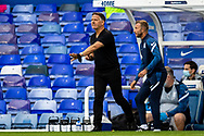 Birmingham City manager Scott Booth during the FA Women's Super League match between Birmingham City Women and Brighton and Hove Albion Women at St Andrews, Birmingham United Kingdom on 12 September 2021.