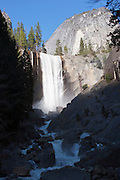 Vernal Fall in Yosemite National Park and the Merced River