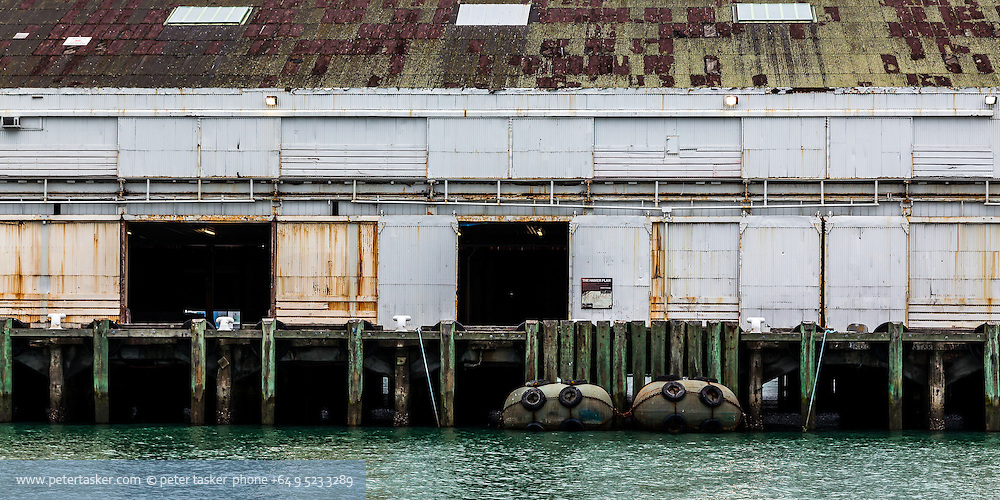 Shed 10, on Queens Wharf, Auckland, New Zealand, prior to renovation for the Rugby World Cup 2011.