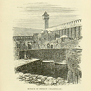 Mosque of Hebron (Machpelah) From the Book 'Bible places' Bible places, or the topography of the Holy Land; a succinct account of all the places, rivers and mountains of the land of Israel, mentioned in the Bible, so far as they have been identified, together with their modern names and historical references. By Tristram, H. B. (Henry Baker), 1822-1906 Published in London in 1897