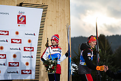 February 22, 2019 - Seefeld In Tirol, AUSTRIA - 190222 Jan Schmid of Norway and Eric Frenzel of Germany leave the podium after the men's nordic combined 10 km Individual Gundersen during the FIS Nordic World Ski Championships on February 22, 2019 in Seefeld in Tirol..Photo: Joel Marklund / BILDBYRÃ…N / kod JM / 87882 (Credit Image: © Joel Marklund/Bildbyran via ZUMA Press)