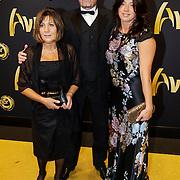 NLD/Amsterdam/20121019- Televiziergala 2012, Amanda Krabbe - Beekman met haar ouders, vader Kees