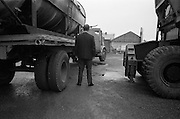 10/10/1966<br /> 10/10/1966<br /> 10 October 1966<br /> Scene of fatal accident at Roche shipping, Alexandra Road, North Wall, Dublin.