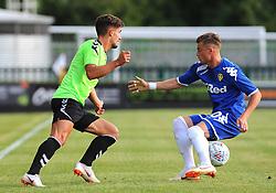 Liam Shephard of Forest Green Rovers loses the ball to Ezgjan Alioski of Leeds United - Mandatory by-line: Nizaam Jones/JMP- 17/07/2018 - FOOTBALL - New Lawn Stadium - Nailsworth, England - Forest Green Rovers v Leeds United - Pre-season friendly