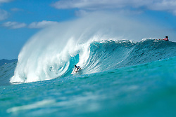 December 16, 2018 - Pupukea, Hawaii, U.S. - Ian Gouveia (BRA) is eliminated from the 2018 Billabong Pipe Masters with an equal 25 finish after placing second in Heat 8 of Round 2. (Credit Image: © Kelly Cestari/WSL via ZUMA Wire)