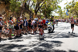 January 20, 2019 - Adelaide, South Australia, Australia - Richie Porte, Team Trek Segafredo, in the lead at 250 metres of the finish, Stage 6 of the Tour Down Under, Australia on the 20 of January 2019  (Credit Image: © Gary Francis/ZUMA Wire)