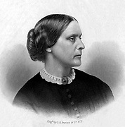Susan B. Anthony  1855.  A prominent American civil rights leader who played a pivotal role in the 19th century women's rights movement to introduce women's suffrage into the United States.