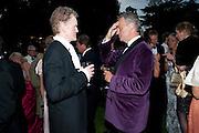 PATRICK GIBBS; HUGH SCOTT-BARRETT, The Goodwood Ball. In aid of Gt. Ormond St. hospital. Goodwood House. 27 July 2011. <br /> <br />  , -DO NOT ARCHIVE-© Copyright Photograph by Dafydd Jones. 248 Clapham Rd. London SW9 0PZ. Tel 0207 820 0771. www.dafjones.com.