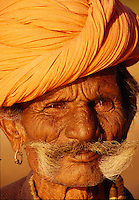 """Portrait of a Rajasthani man, India<br /> Available as Fine Art Print in the following sizes:<br /> 08""""x12""""US$   100.00<br /> 10""""x15""""US$ 150.00<br /> 12""""x18""""US$ 200.00<br /> 16""""x24""""US$ 300.00<br /> 20""""x30""""US$ 500.00"""