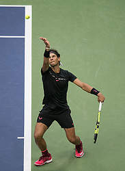 September 10, 2017 - Flushing Meadows, New York, U.S - Rafael Nadal wins his Championship match on Day Fourteen of the Men's 2017 US Open Final played against Kevin Anderson at the USTA Billie Jean King National Tennis Center on Sunday September 10, 2017 in the Flushing neighborhood of the Queens borough of New York City. Nadal defeats Anderson, 6-3, 6-3, 6-4. JAVIER ROJAS/PI (Credit Image: © Prensa Internacional via ZUMA Wire)