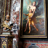 Europe, France, Lille. Art of Saint Maurice Cathedral in Lille.