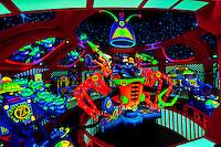 Buzz Lightyear's Space Ranger Spin ride, Magic Kingdom, Walt Disney World, Orlando, Florida USA