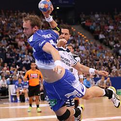 Hamburg, 24.05.2015, Sport, Handball, DKB Handball Bundesliga, HSV Handball - SG Flensburg-Handewitt : Henrik Toft Hansen (HSV Handball, #15)<br /> <br /> Foto © P-I-X.org *** Foto ist honorarpflichtig! *** Auf Anfrage in hoeherer Qualitaet/Aufloesung. Belegexemplar erbeten. Veroeffentlichung ausschliesslich fuer journalistisch-publizistische Zwecke. For editorial use only.