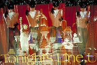 Triple exposure on the Las Vegas Strip.  CD scan from 35mm film.  © John Birchard