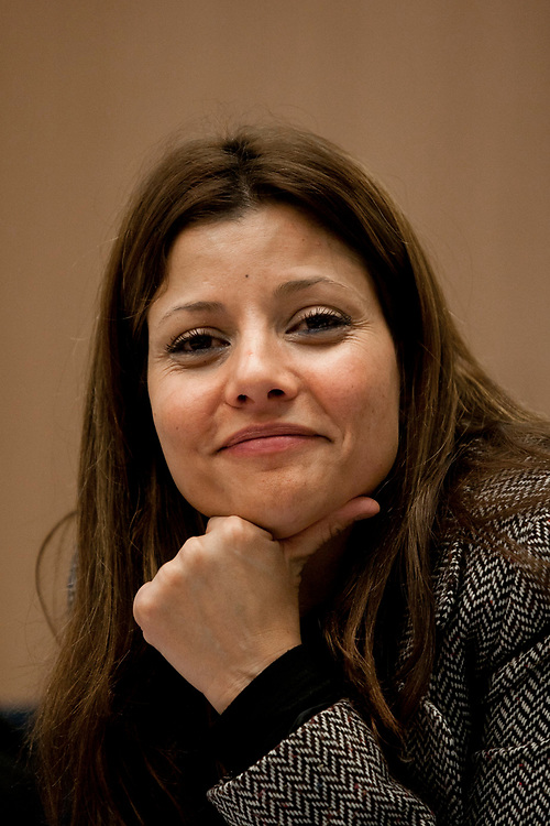 Israeli lawmaker, Knesset Member Orly Levy-Abekasis attends the first conference of the Knesset's Lobby for Public Housing, at the Israeli Parliament in Jerusalem, on January 18, 2012.