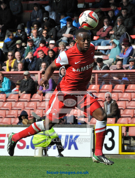 Picture by Alan Stanford/Focus Images Ltd +44 7915 056117.27/04/2013.Moses Odubajo of Leyton Orient  during the npower League 1 match at the Matchroom Stadium, London.. .