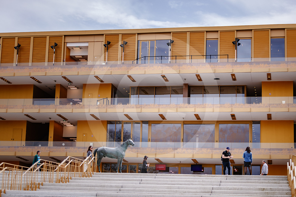 Longchamp Grandstand, First racing day after the renovation, Paris France 08/04/2018, photo: Zuzanna Lupa