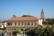 Italian period building Rhodes town, Rhodes, Greece