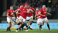Rugby Union - 2017 British & Irish Lions Tour of New Zealand - The Blues vs. British & Irish Lions<br /> <br /> James Haskell of The Lions avoids a tackle at Eden Park, Auckland.<br /> <br /> COLORSPORT/LYNNE CAMERON