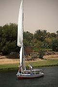 Felucca along Nile River, Egypt