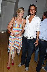 LADY ELOISE ANSON and CHARLIE GILKES at the launch of Friday Nights at Mamilanji - Chelsea's newest and most exclusive members club, 107 Kings Road, London SW3 hosted by Charlie Gilkes and Duncan Stirling held on 29th July 2005.<br />