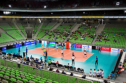 Arena during volleyball match between National teams of Slovenia and Georgia in 2nd Round of 2018 FIVB Volleyball Men's World Championship qualification, on May 24, 2017 in Arena Stozice, Ljubljana, Slovenia. Photo by Vid Ponikvar / Sportida