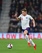 Harvey Barnes of England U21's during the U21 International match between England and Germany at the Vitality Stadium, Bournemouth, England on 26 March 2019.