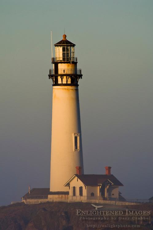 Pigeon Point Lighthouse at sunrise, San Mateo County coast, California
