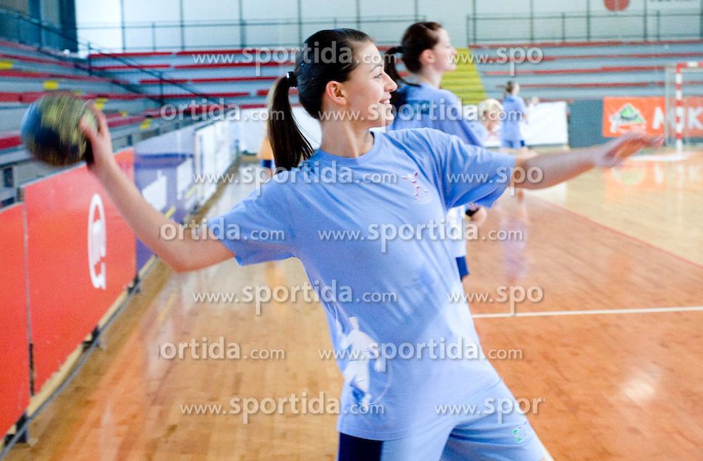 Mirjana Gojkovic at practice of Slovenian Handball Women National Team, on June 3, 2009, in Arena Kodeljevo, Ljubljana, Slovenia. (Photo by Vid Ponikvar / Sportida)