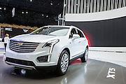 New York, NY, USA-23 March 2016. The Cadillac XT5, a luxury crossover car.