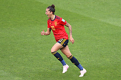 Spain's Jennifer Hermoso celebrates scoring her side's first goal of the game