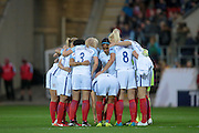 England team before the Euro 2017 qualifier between England Ladies and Belgium Ladies at the New York Stadium, Rotherham, England on 8 April 2016. Photo by Mark P Doherty.